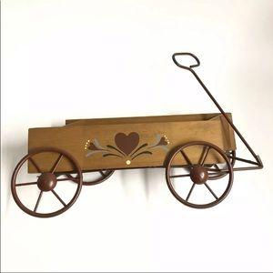 Primitive Country Folk Art Wooden Western Wagon
